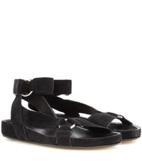 Isabel Marant Loatis Suede Sandals Black