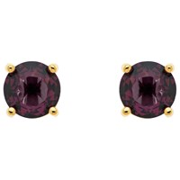 Monet Glass Crystal Stud Earrings Gold Purple