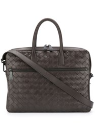 Bottega Veneta Intrecciato Zipped Briefcase 60