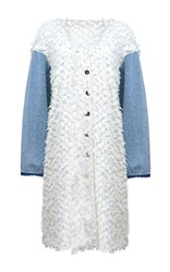 Anouki Floral Lace Denim Sleeve Jacket White