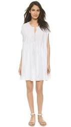Cynthia Rowley Oversized Tuxedo Dress White