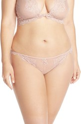 Only Hearts Club Plus Size Women's Only Hearts 'So Fine' Lace Thong Nude