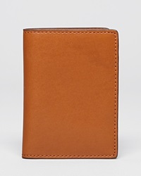 Jack Spade Mill Leather Vertical Flap Wallet Tobacco