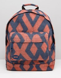 Mi Pac Premium Backpack In Diamond Felt Navy Orange Multi