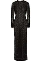 Sibling Metallic Knitted Maxi Dress Black