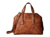Steve Madden Bpronto Dome Satchel Cognac Satchel Handbags Tan