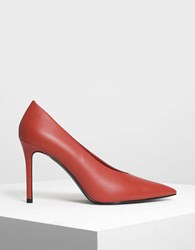 Charles And Keith Pointed Pumps Orange