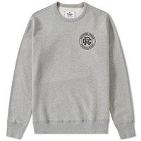 Reigning Champ Mini Crest Logo Crew Sweat Grey