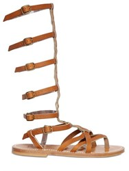 K Jacques St.Tropez Appia Leather Gladiator Sandals