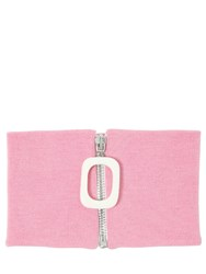J.W.Anderson Zip Up Wool Knit Neckband Pink