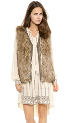 Burning Torch Venus In Furs Faux Fur Vest Multi