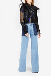 Victoria Beckham Women S Super Wide Leg Jeans Boutique1 Blue