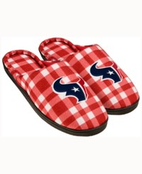 Forever Collectibles Houston Texans Flannel Slide Slippers Navy