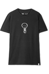 Sleepy Jones Printed Cotton Jersey T Shirt Black