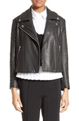 Yigal Azrouel Women's Studded Leather Jacket Black