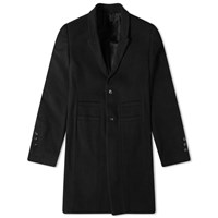 Sophnet Rick Owens Single Breasted Wool Overcoat Black