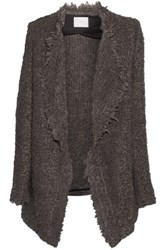 Iro Campbell Oversized Textured Knit Cardigan Brown