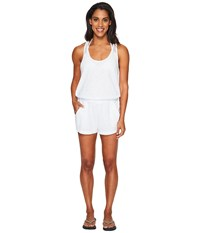 Speedo Romper Cover Up White Women's Swimsuits One Piece