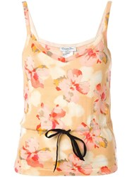 Christian Dior Vintage Floral Print Top Multicolour