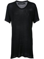 Julius Knit Scoop Neck T Shirt Men Cotton Rayon 3 Black