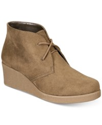 Style And Co Jerardy Wedge Ankle Booties Created For Macy's Women's Shoes Olive