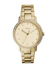 Fossil Dress Neely Studded Stainless Steel Bracelet Watch Gold