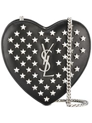 Saint Laurent Mini 'Love' Heart Chain Bag Black