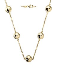 Lord And Taylor 14K Yellow Gold Puffed Necklace