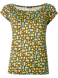 Aspesi Graphic Print Fitted T Shirt Green