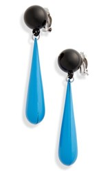 Toga 'S Motif Drop Earrings Light Blue