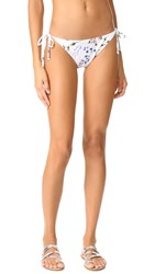 Shoshanna Clean String Bikini Bottoms White Multi
