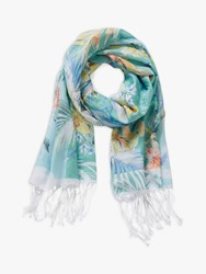 Betty And Co. Floral Print Scarf Emerald Green Green