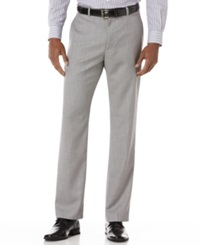 Perry Ellis Big And Tall Textured Pants Brushed Nickel