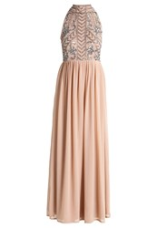 Lace And Beads Snow Occasion Wear Taupe Brown