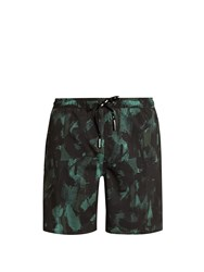 The Upside Ultra Sketchy Camouflage Print Training Shorts Black Multi