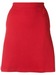 Etre Cecile A Line Skirt Polyamide Viscose L Red
