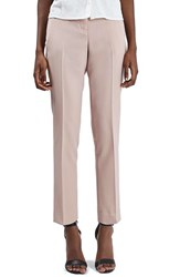 Topshop Women's Crop Fitted Trousers Pink