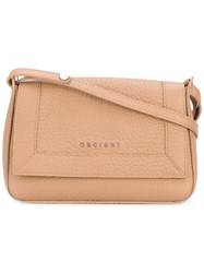 Orciani Classic Shoulder Bag Women Leather One Size Nude Neutrals
