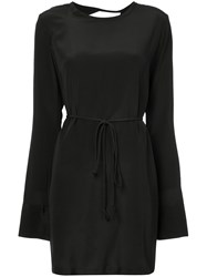 Kacey Devlin Collapsed Back Shirt Dress Silk Black