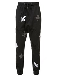 Haculla Embroidered Track Pants Men Cotton M Black