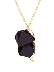Marni Floral Pendant Necklace Navy