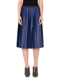 So Nice Skirts 3 4 Length Skirts Women Dark Blue