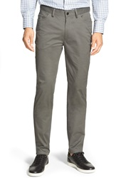 Vince Camuto Vince 'Core' Slim Fit Five Pocket Chinos Gunmetal