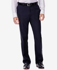 Haggar Eclo Stria Classic Fit Dress Pants Navy
