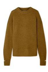 Tibi Airy Oversized Alpaca Blend Sweater Sage Green