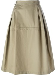 Sofie D'hoore A Line Midi Skirt Nude And Neutrals