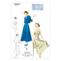 Vogue Vintage Women's Jacket And Dress Sewing Pattern 8974