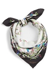 Ted Baker London Highgrove Square Silk Scarf White