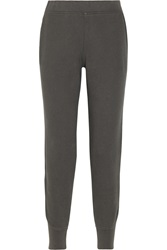 Alexander Wang Cotton Blend Fleece Sweatpants Gray