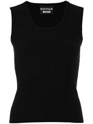 Boutique Moschino Stretch Jersey Top Black